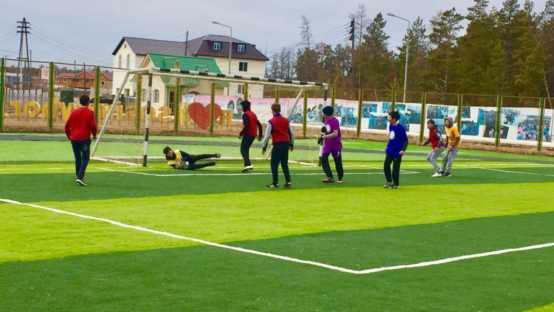 Укладка искусственной травы для средней образовательной школы №18 г. Якутск